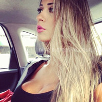 "Malibu Ombre Hair, Dark Blonde Ombre Hair, Light Blonde Ombre Hair, Free People Hair, (7)Pieces,18"", Custom Your Color"