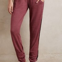 Fresh Laundry Side-Stripe Joggers in Red Size: