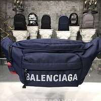 BALENCIAGA MEN'S AND WOMEN'S CANVAS WAIST CHEST PACK CROSS BODY BAG