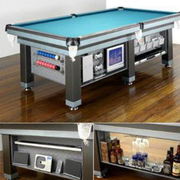 Pool table?home entertainment center