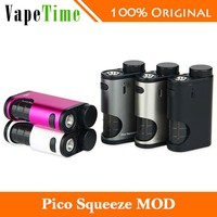 New Original 50W Eleaf Pico Squeeze Box MOD with Refillable Squonk Bottle of 6.5ml Large Capacity & Reimagined Squonk System