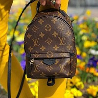 LV Louis Vuitton classic print ladies backpack school bag shopping bag