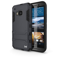 HTC One M9 Case, Ghostek Armadillo 2.0 Dark Navy w/ M9 Tempered Glass  | Lifetime Warranty