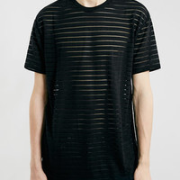 SHEER STRIPE SKATER T-SHIRT - New In