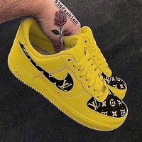 LV Louis Vuitton Nike Air Force 1 Low-End Casual Sneakers Shoes