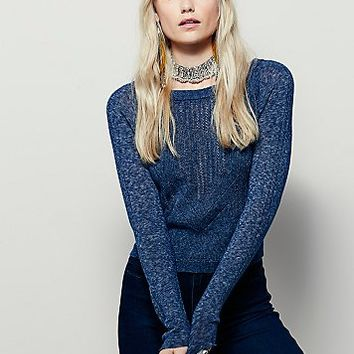 Free People Womens Peek A Boo Pullover