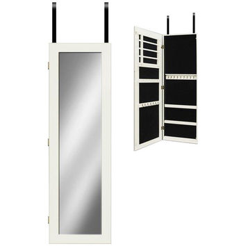 Mirrotek Over the Door/Wall Mounted Jewelry Armoire with Mirror