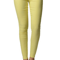 Yellow Color Tight Jeggins