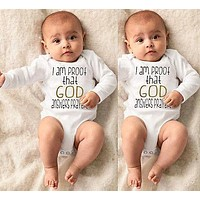 God Newborn Baby Girl Boy Clothes Romper Jumpsuit Costumes Long SLeeve bottom Tops diaper Cover 0-18M