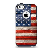 The Wooden Grungy American Flag Skin for the iPhone 5c OtterBox Commuter Case