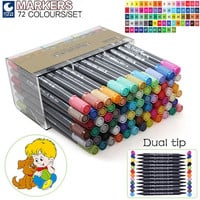 Copic Markers Double Headed Markers Set Marker Pens for Sketching Paint Markers Art Supplies 36 / 48 / 72 Colored Pens Copic Marker Drawing