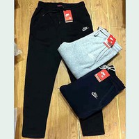 Nike Thick leisure pants men's sport pants hight quality Black grey Day-First™