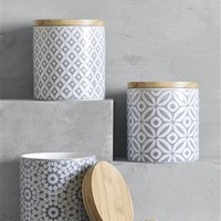 Buy Set of 3 Grey Geo Storage Jars from the Next UK online shop
