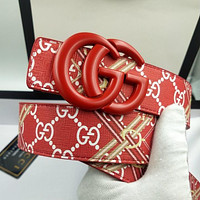 GG new double G smooth buckle belt