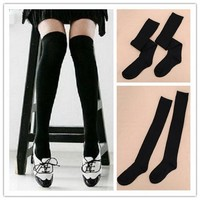Lady Girl Cute Over Knee Winter Socks Thigh High Warm Cotton Long Stockings