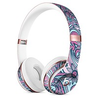 Seamless Mint and Pink Sprout Full-Body Skin Kit for the Beats by Dre Solo 3 Wireless Headphones
