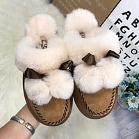 UGG Fashionable Ladies Casual Slippers Are Hot Sellers Of Velour Covered Sandals-1