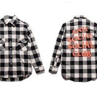 Plaid Long Sleeve Shirt [10277045383]