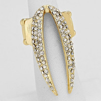Gold Rhinestone Stretch Ring