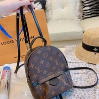 DCCK Louis Vuitton LV Woman Men Fashion Leather Travel Bookbag Shoulder Bag Backpack