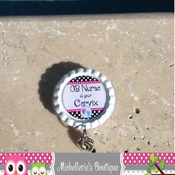 Stethoscope ID Tag with Charm, Nursing Student, RN, Gifts for Nurses, Doctor Gift, Med Student, Graduation Gift, Stethoscope Accessories