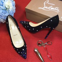 Cl Christian Louboutin 100mm Patent Leather High Heels W05 - Best Online Sale