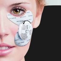 Secura Biomicroelectric Eye Anti-Wrinkle Patches Wrinkle Remover Massager, w/ 2 Conductive HydroGel Pads