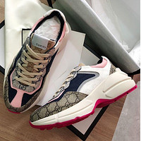 GG Men's and Women's Double G Platform Sneakers Shoes 1