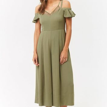 Open-Shoulder Culotte Jumpsuit
