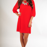 Heart Is Still Yours Dress: Red