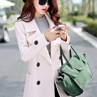 Glamorous Double-Breasted Wool Coat - OASAP.com