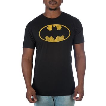 The Batman Yellow Bat Symbol T-shirt Tee Shirt