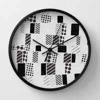 stripes and dots Wall Clock by SpinL