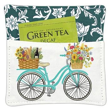 Bicycle Spice Mug Coaster Mat with Tea Included