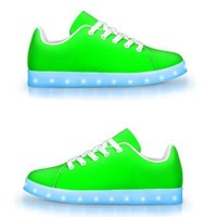 Neon Green -  APP Controlled Low Top LED Shoes
