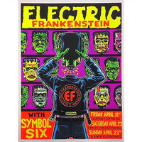 Electric Frankenstein gig poster