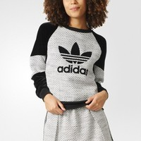 Adidas Women Color matching Scoop Neck Long Sleeve Pullover