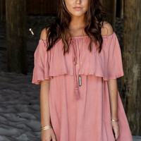 Off The Map Mauve Dress