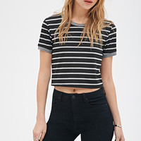 Striped Ringer Crop Top