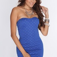 Royal Blue Studded Strapless Sexy Party Dress @ Amiclubwear sexy dresses,sexy dress,prom dress,summer dress,spring dress,prom gowns,teens dresses,sexy party wear,women's cocktail dresses,ball dresses,sun dresses,trendy dresses,sweater dresses,teen clothin