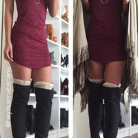 So Suede T-Shirt Tunic Dress (more colors)