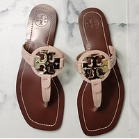 TORY BURCH[tb] New style square slippers-1