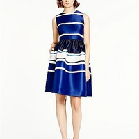 kate spade new york Kate Spade Holiday Stripe Fit And Flare Dress