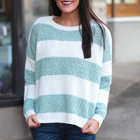 Envious Striped Knit Sweater {Mint}