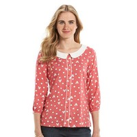 Disney's Minnie Rocks the Dots a Collection by LC Lauren Conrad Collared Top - Women's