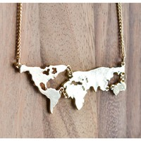 World Map Necklace Best Gift Present 2016 Christmas Holiday