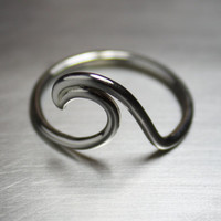 Wave Ring, Silver Wave Ring, Surfer Ring