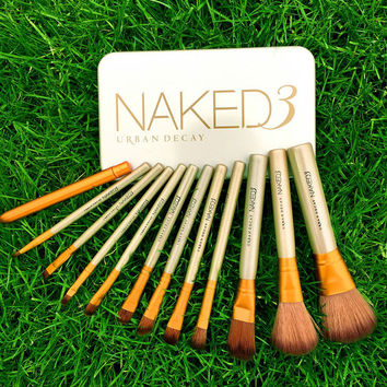 [BIG SALE] 12 Piece Set NAKED3  Power Makeup Brushes
