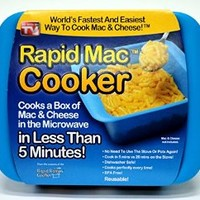 Rapid Mac Cooker - Microwave Boxed Macaroni and Cheese in 5 Minutes, Easy Lunch & Dinner