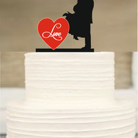 Bride and Groom wedding Cake topper,Silhouette Wedding Cake topper,Funny Wedding Cake Topper,initial Cake Topper,Unique Wedding Cake Topper